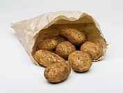 Potatoes in a paper bag
