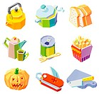 Various objects displayed against white background