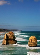 The Twelve Apostles on the Great Ocean Road in Victoria in Australia