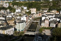 General view of the harbour in the fishing town of Luarca in Asturias, northern Spain
