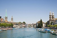 The river limmat in zurich