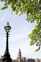 Houses of parliament and lamppost