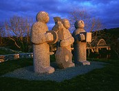 Kenmare, Ring of Kerry, Co Kerry, Ireland, Musicians Sculpture