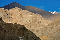 Ladakh, India, Rugged landscape of mountain range