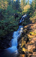 Time delay of narrow waterfall in forest