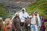 Jesus journey on the donkey