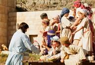 Jesus feeding children