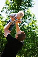 Man holding child