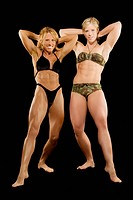 Two female bodybuilders