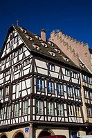 Timber_framed building in Strasbourg, France, Europe