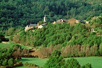 Village in the Llessui Valley, Pyrenees, Spain