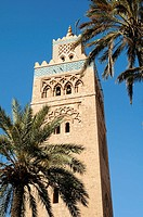 Morocco, Marrakech  Minaret of Koutoubia