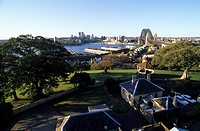 View from Observatory Hill to the Harbour Bridge, Sydney, New South Wales, Australia
