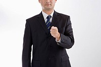 Businessman standing and pointing, Business People