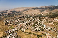 Aerial photograph of the village of Hazor Ha´Glilit in the Upper Galilee