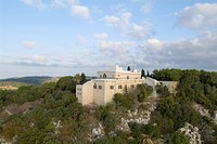 Aerial photograph of the monastery of Muchraka on the Carmel mountain