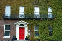 Photograph of a building covered with climber plant in Ireland
