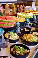 Different kinds of food serving in the restaurant,Restaurant