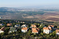 Aerial photograph of the village of Gilon in the western Galilee