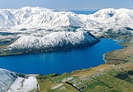 Lake Coleridge, Canterbury aerial view, New Zealand