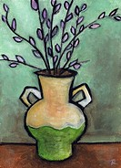 'Roman Vase' 5 x 7 inches, acrylic on panel  Part of the '30 Flowers' series