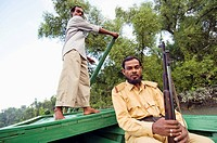 Ranger at Ganges Delta, Sundarbans, Bangladesh