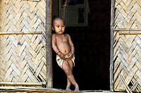 Murong child in a village, Bandarban District, Bangladesh