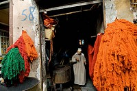 Dyers souk, Marrakech, Morocco