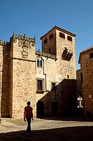 Palace of the Golfines, old town, Caceres. Extremadura, Spain
