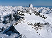 Mount Aspiring looking west aerial view New Zealand