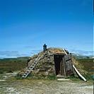 Lapp cot in Lapland.
