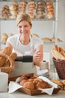 A baker in a bakery