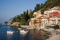 Varenna and harbour, Lake Como, Italy