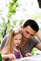 Father And Daughter Learning