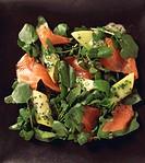 Food _ watercress and salmon salad