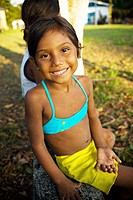 Child Smiling, Caioezinho Community, Negro Rivers, Novo Airão, Amazonas, Brazil