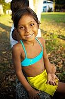Child Smiling, Caioezinho Community, Negro Rivers, Novo Airão, Amazonas, Brazil
