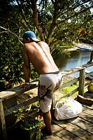 Person, Nature, Igarape, Terra Preta Community, Iranduba, Amazonas, Brazil