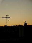 Sunset, Antenna, Architecture, São Paulo, Brazil