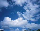 Clouds in blue sky, Saipan