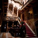 Interior of old_fashioned Hotel, Venice, Italy