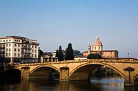 Florence cityscape with bridge, Italy