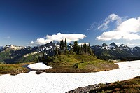 Tatoosh Mountains in sprong season, Mt Rainier National Park, Washington State, USA