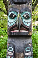 Totem Pole in Pioneer Square, Seattle, Washington State, USA