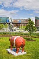 Pig statue, International District, Seattle, Washington State, USA
