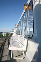 Side view of a boat deck