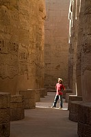 Man standing in the Temple of Karnak
