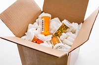 Box of prescription medications