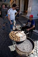 Chesnuts for sale, Rome, Lazio, Italy