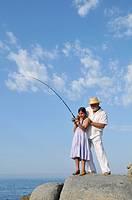 morning fishing with grandpa